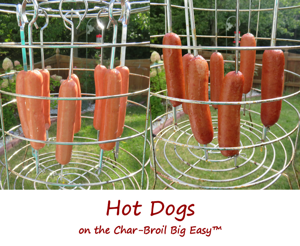 Hot Dogs on the Char-Broil Big Easy