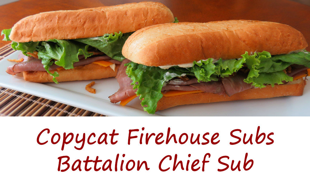 Copycat Firehouse Subs Battalion Chief Sub
