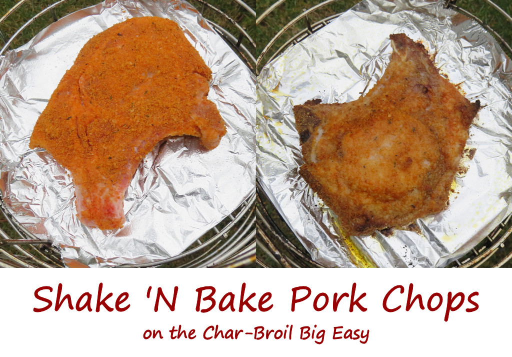 Shake 'N Bake Pork Chops on the Char-Broil Big Easy
