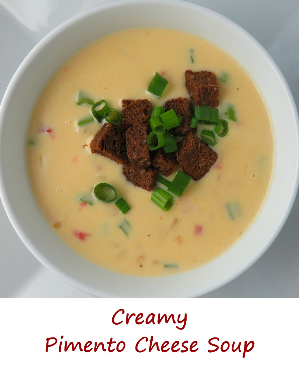 Creamy Pimento Cheese Soup