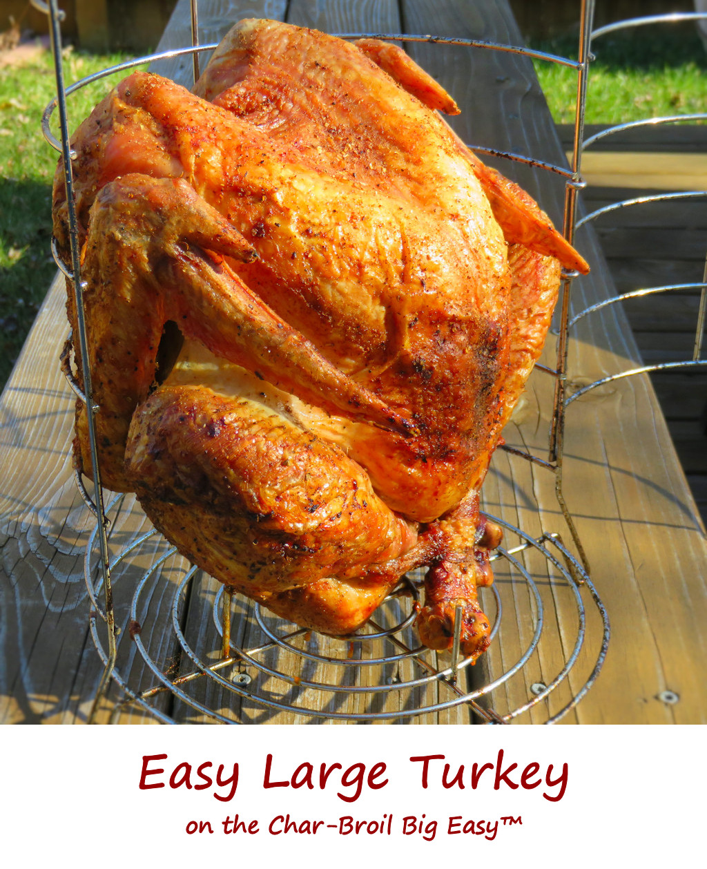 Easy Large Turkey on the Char-Broil Big Easy