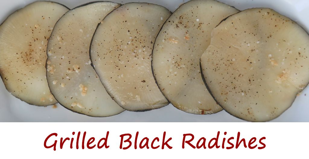 Grilled Black Radishes