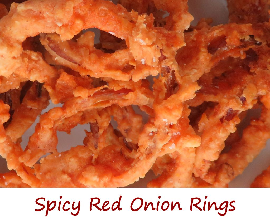 Spicy Red Onion Rings