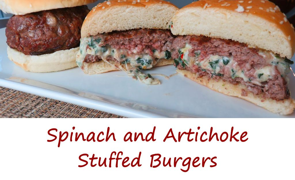 Spinach and Artichoke Stuffed Burgers
