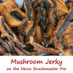 Mushroom Jerky on the Nesco Snackmaster Pro