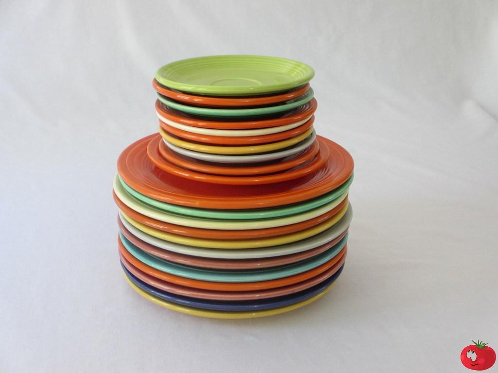 Homer Laughlin Fiesta Plates