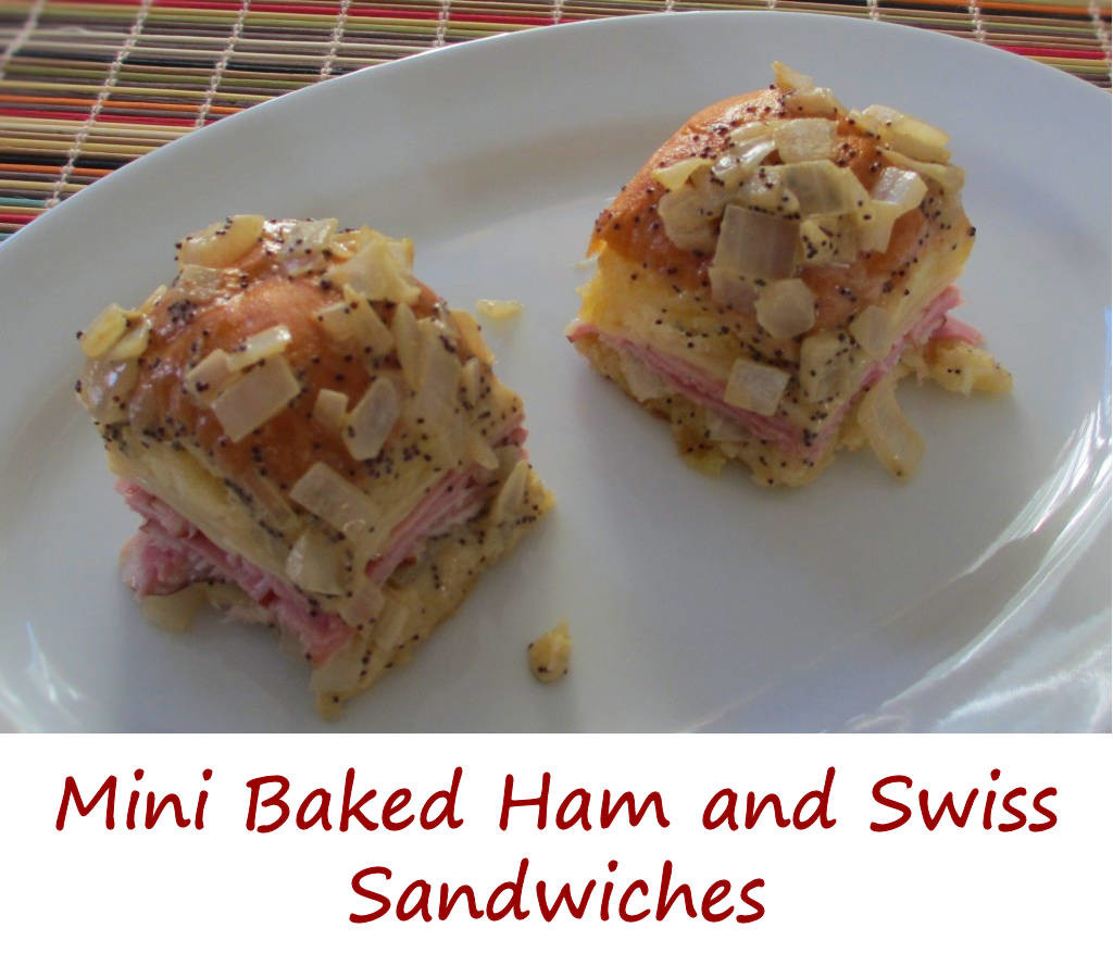 Mini Baked Ham and Swiss Sandwiches