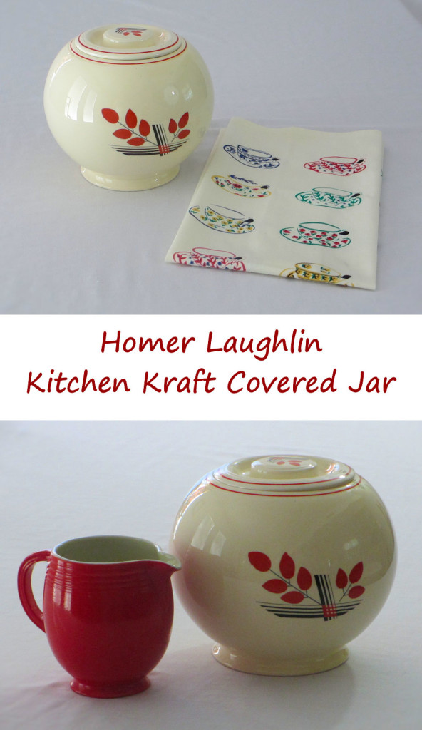 Homer Laughlin Kitchen Kraft Covered Jar