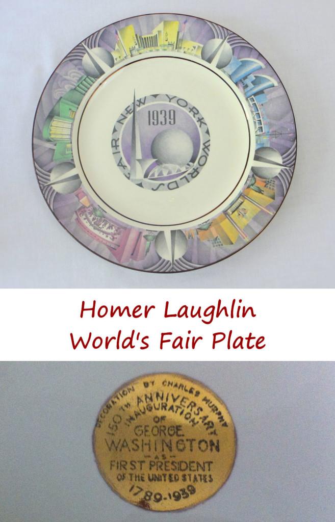 Homer Laughlin World's Fair Plate