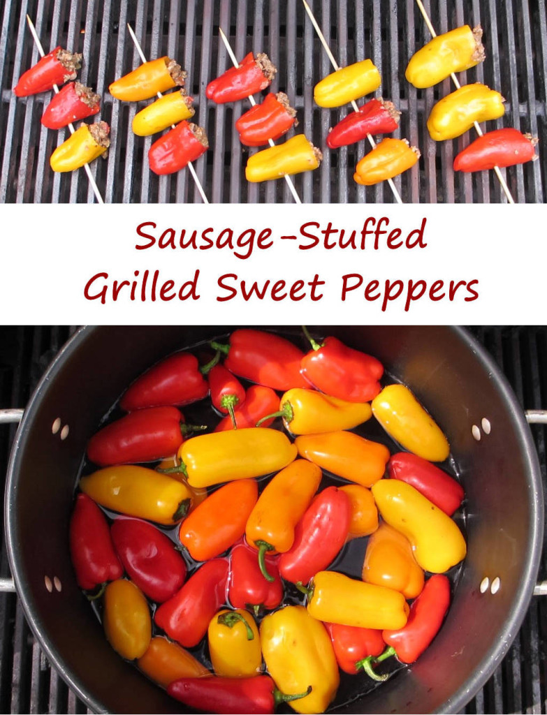 Sausage-Stuffed Grilled Sweet Peppers