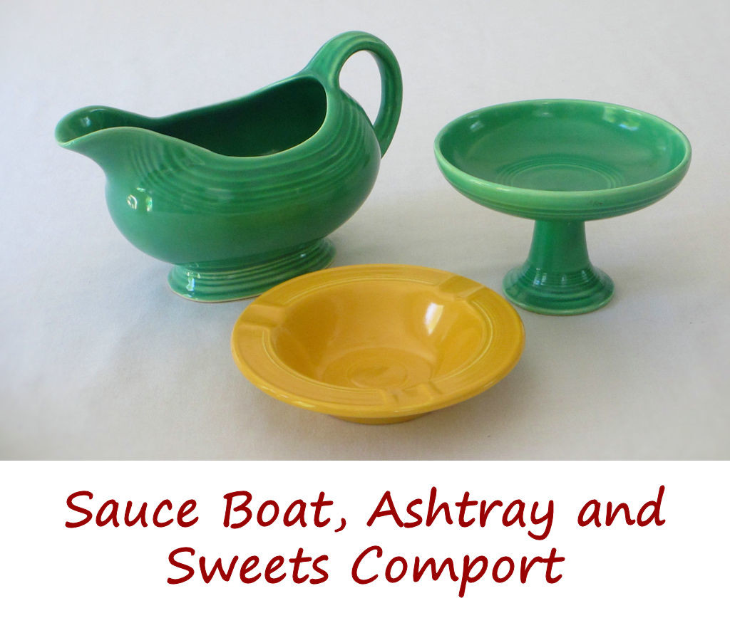 Sauce Boat, Ashtray and Sweets Comport