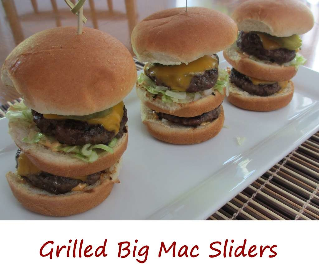 Grilled Big Mac Sliders