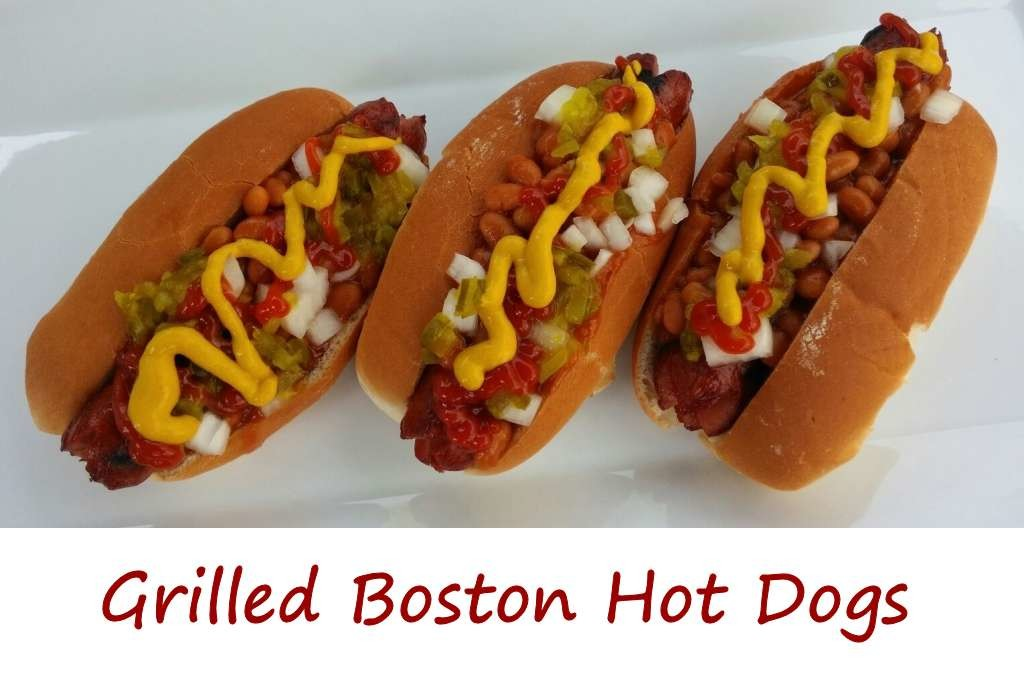 Grilled Boston Hot Dogs