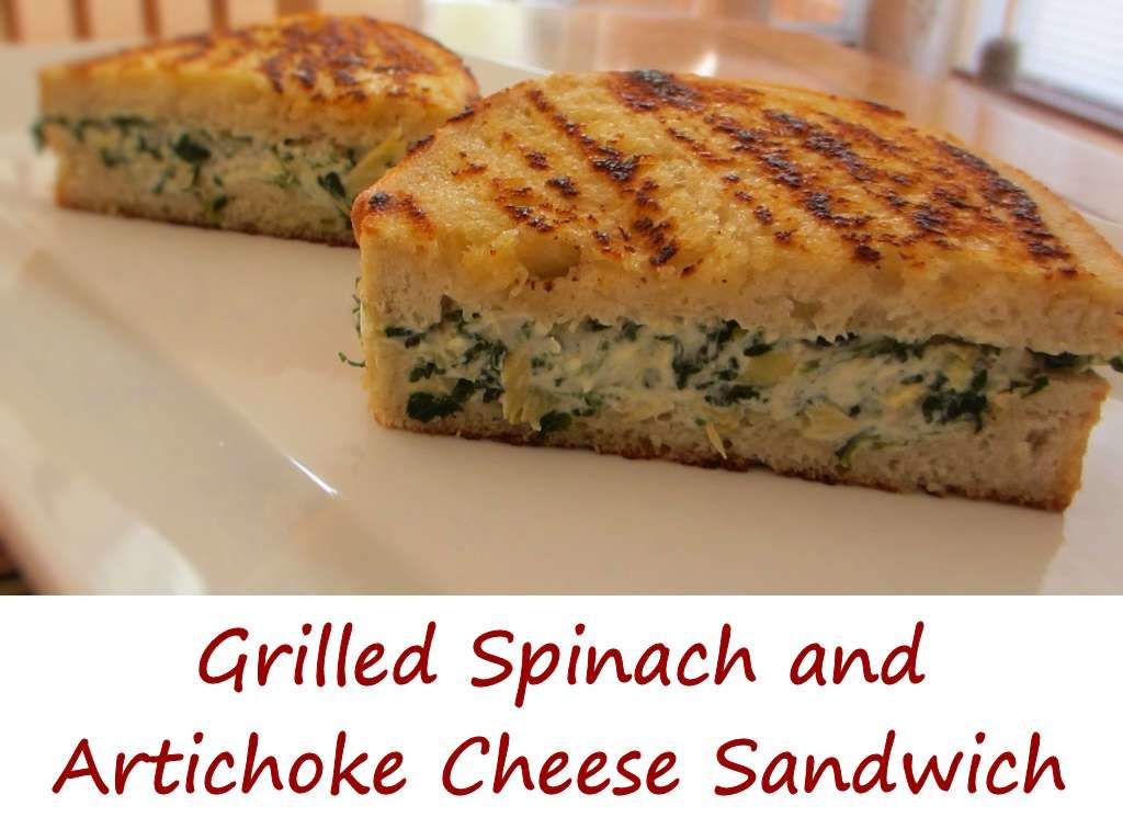 Grilled Spinach and Artichoke Cheese Sandwich