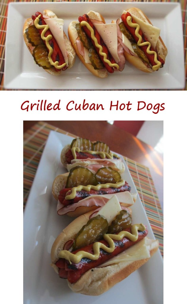 Grilled Cuban Hot Dogs