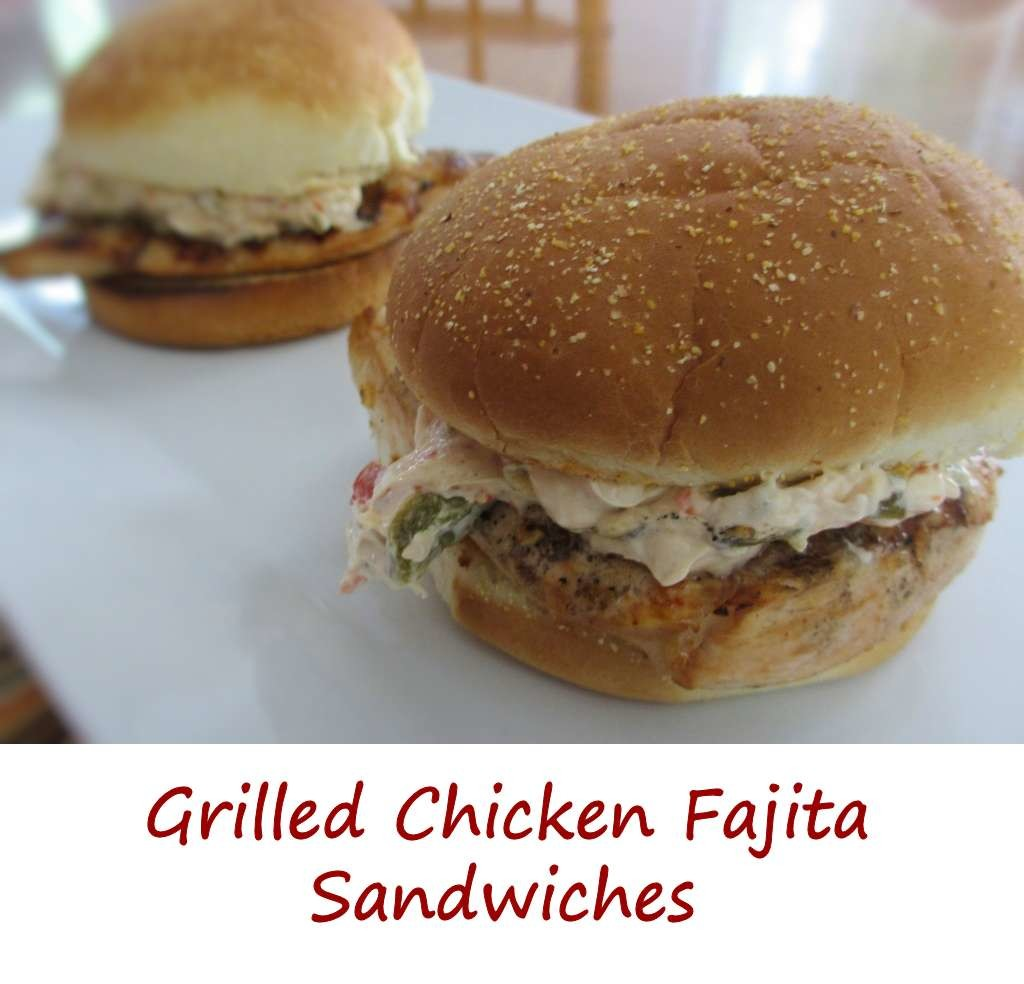 Grilled Chicken Fajita Sandwich with Roasted Poblano Cream Sauce