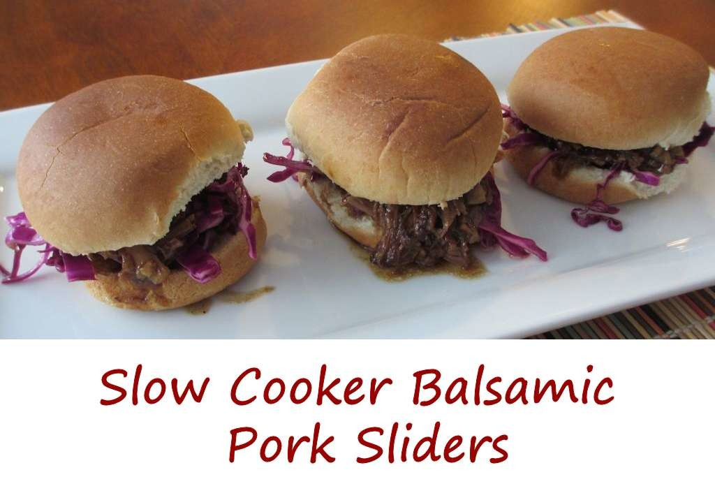 Slow Cooker Balsamic Pork Sliders