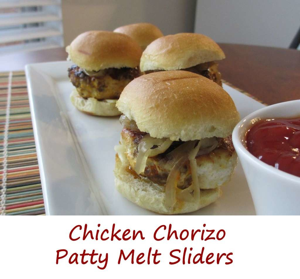 Chicken Chorizo Patty Melt Sliders