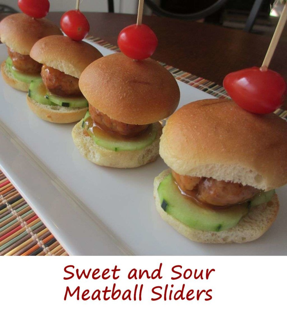 Sweet and Sour Meatball Sliders