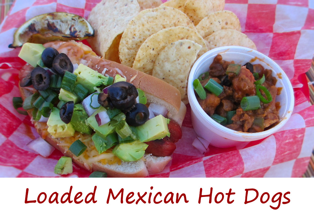 Loaded Mexican Hot Dogs