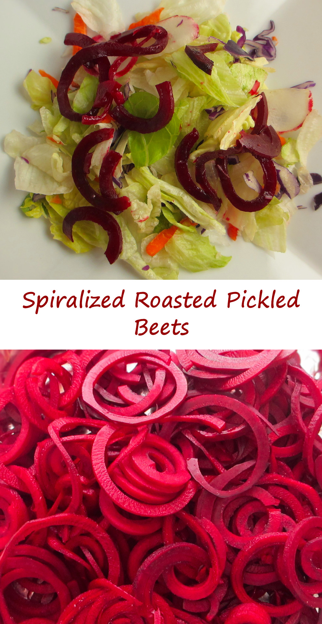 Spiralized Roasted Pickled Beets