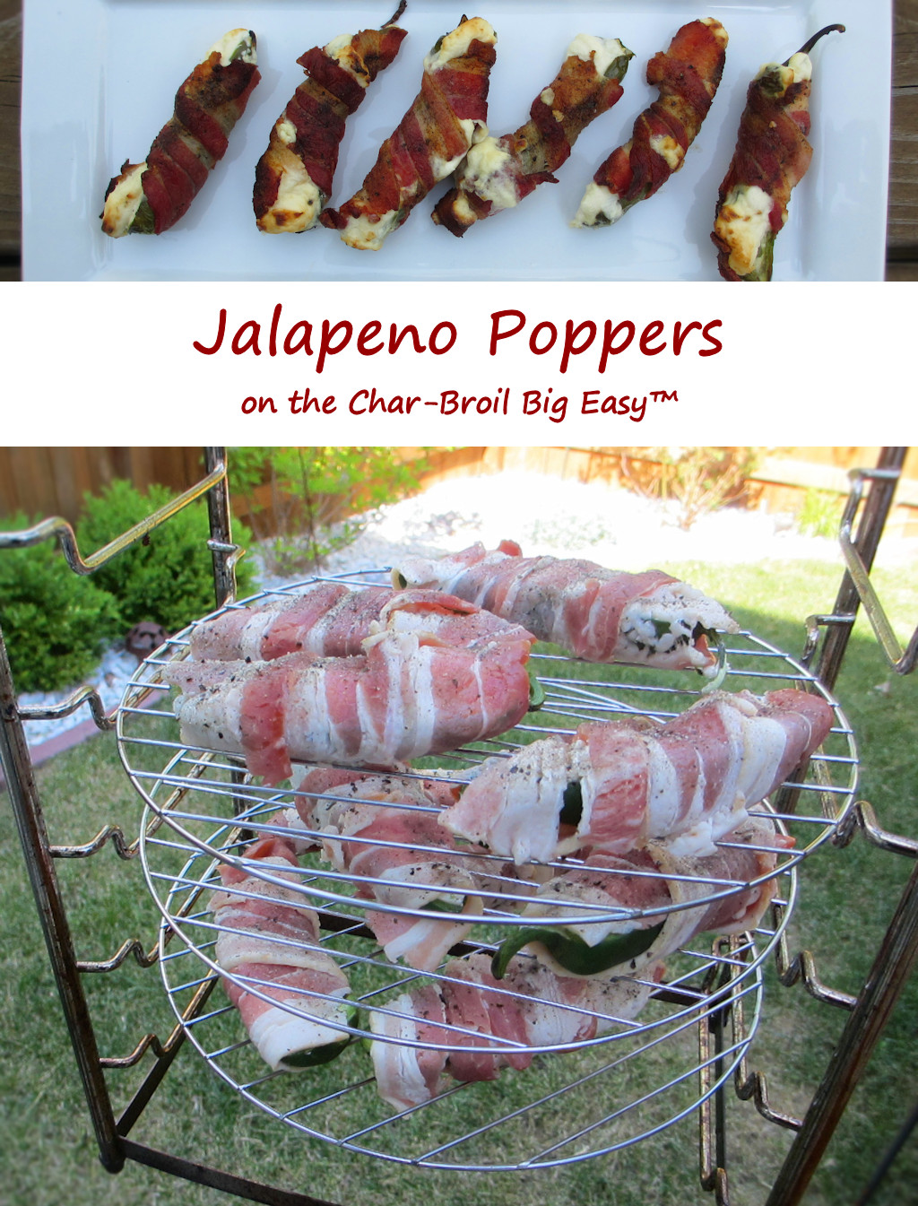 Jalapeno Poppers on the Char-Broil Big Easy