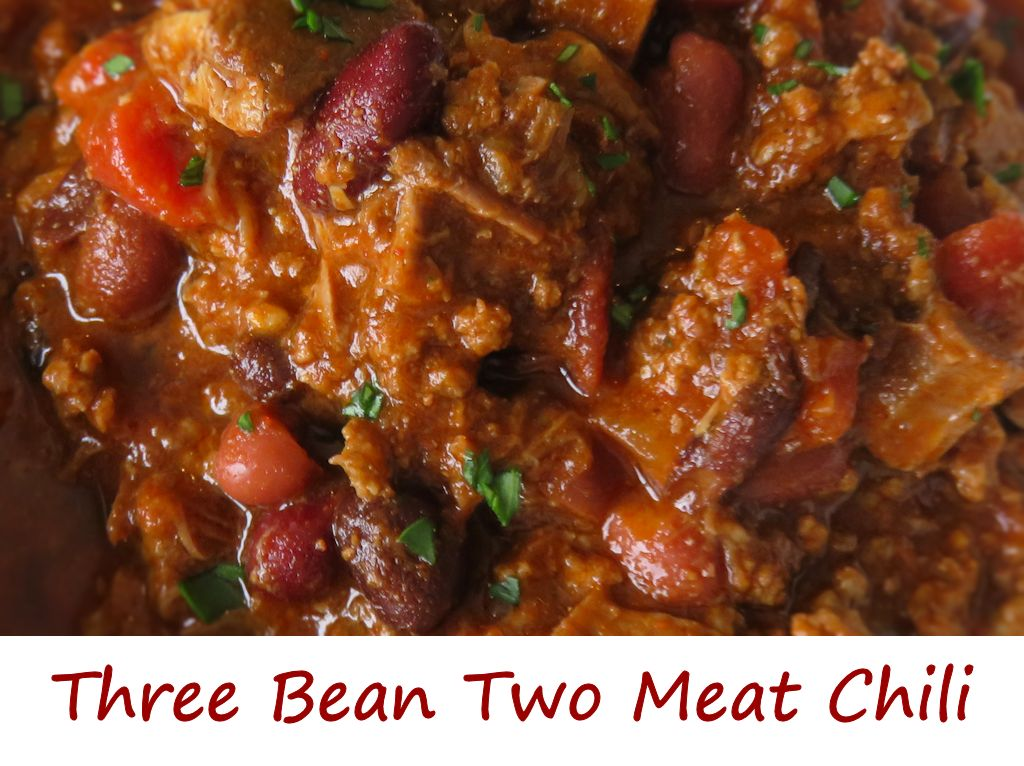 Three Bean Two Meat Chili