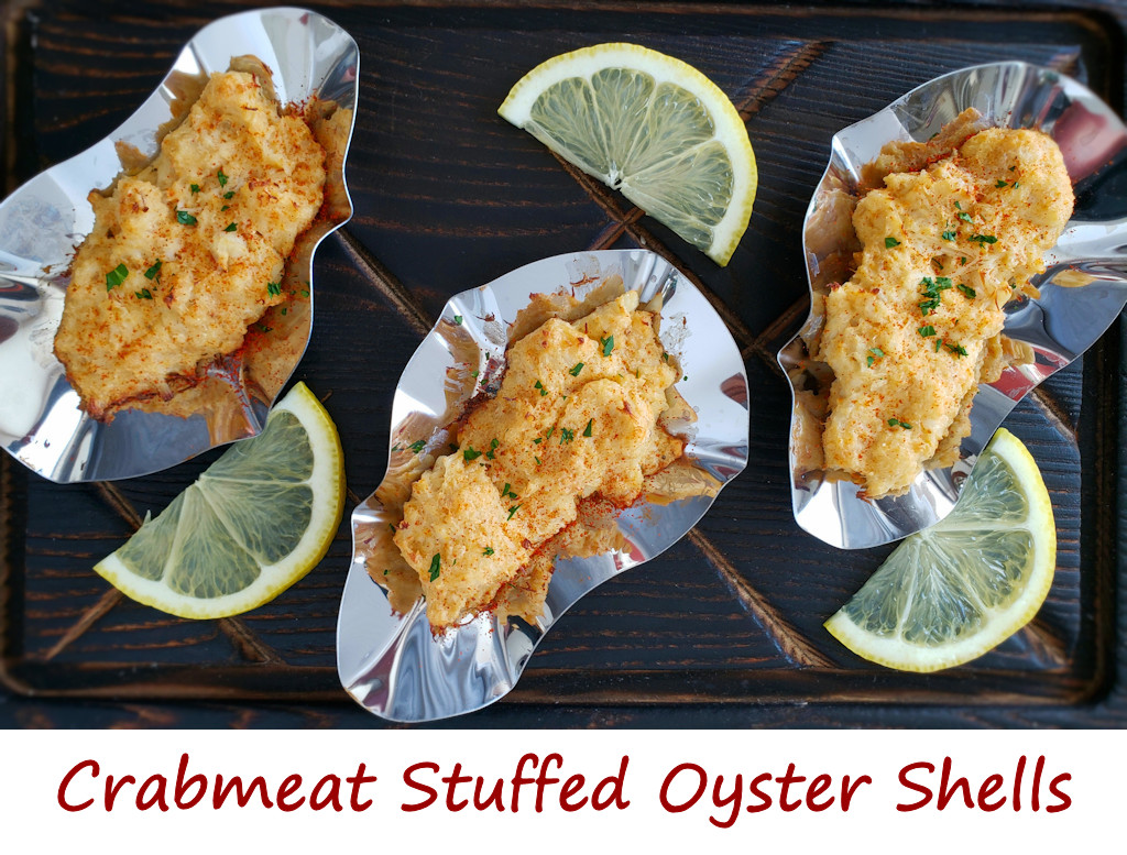 Crabmeat Stuffed Oyster Shells