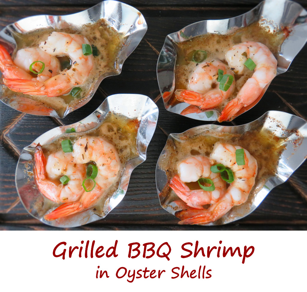 Grilled BBQ Shrimp in Oyster Shells